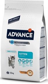 Advance Cat, Kitten, сухой корм для котят 1,5кг