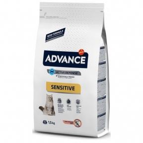 Advance Cat, Salmon Sensitive, сухой корм для котов с чувств. пищ., 1,5кг