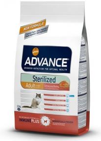 Advance Cat, Salmon Sensitive Sterilized, сухой корм для кастрир. котов с чувств. пищ., 1,5кг