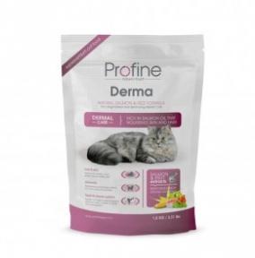 ProFine DERMA натуральный лосось и рис для длинношерстых и полудлинношерстых котов и кошек 300g