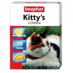 Beaphar Kitty Cheese Витамины для котов 75 шт