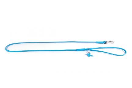 Collar Glamour поводок круглый голубой 10мм/122см