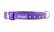 Collar Glamour ошейник со стразами фиолетовый  9мм/18-21 см