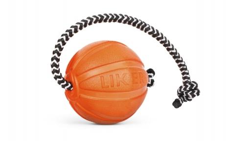 Liker Cord 5 - мячик со шнуром для щенков и собак мелких пород 3см/30см
