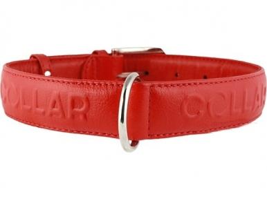 Collar Glamour ошейник без украшений L 35мм 46-60см Красный