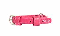 Collar Glamour ошейник без украшений XS 9мм 19-25см розовый