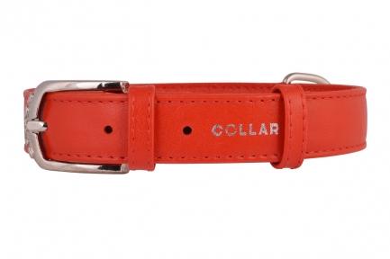 Collar Glamour ошейник без украшений XS 9мм 18-21см красный