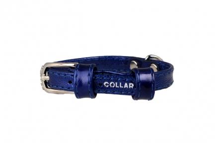 Collar Brilliance ошейник без украшений синий 9мм/18-21см