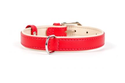 Collar Brilliance ошейник без украшений красный 9мм/18-21см