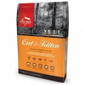 Orijen Cat&Kitten Original 85/15 беззерновой корм для взрослых кошек 5.4kg