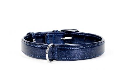 Collar Brilliance ошейник без украшений синий 25мм/38-49см