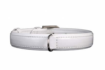 Collar Brilliance ошейник без украшений белый 15мм/27-36см
