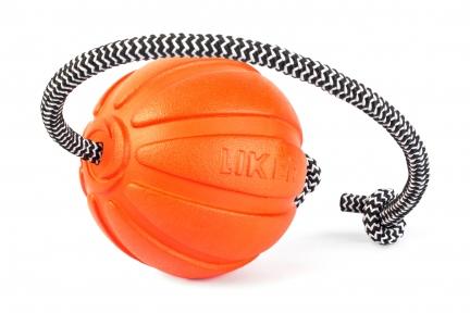 Liker Cord 9 - мячик для собак больших пород со шнуром 9см/30см