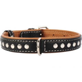 Collar Soft с металлическими украшениями черный верх 15мм/27-36см
