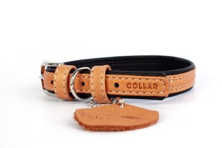 Collar Soft ошейник без украшений коричневый верх 25мм/38-49см