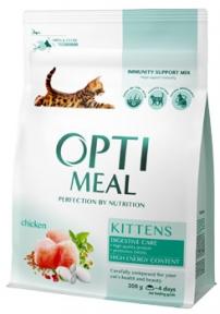 OptiMeal сухой корм для котят с курицей 300г