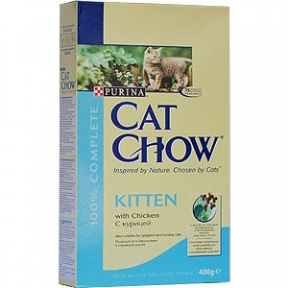 Purina Cat Chow Kitten Сухой корм для котят с курицей 400 г