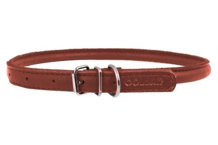Collar SOFT ошейник для длинношерстных собак коричневый 13мм/45-53см