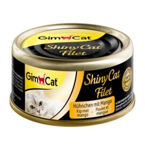Gimpet ShinyCat лакомство для котов с цыпленком и манго 70г