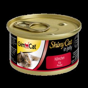 Gimpet ShinyCat лакомство для котов цыпленок  70г