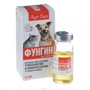 Api-San Фунгин для кошек и собак 10мл