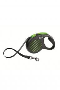 Flexi Design 3m,лента, черный-зеленый 8kg