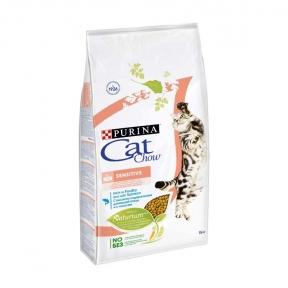 Cat Chow Sensitive чувствительное пищеварение 15kg