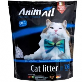 AnimAll наполнитель силикагель Кристаллы аквамарина для котов, 7.6л