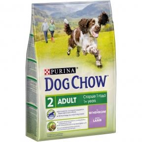 Dog Chow Adult со вкусом ягненка 2.5 кг