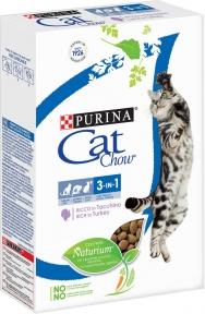 Purina Cat Chow 3in1 Feline Сухой корм с индейкой 400 г