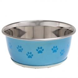 Karlie-Flamingo Bowl Selecta+Paw миска с лапой для собак/котов нержавейка 13см 350мл