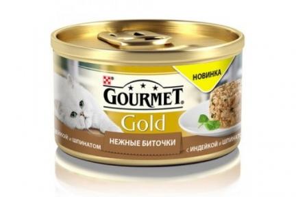 Gourmet Gold нежные биточки индейка и шпинат 85г