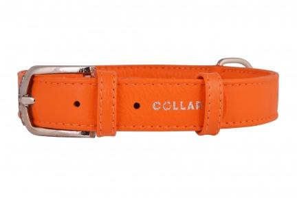 Collar Glamour ошейник без украшений S 20мм 30-39см оранжевый