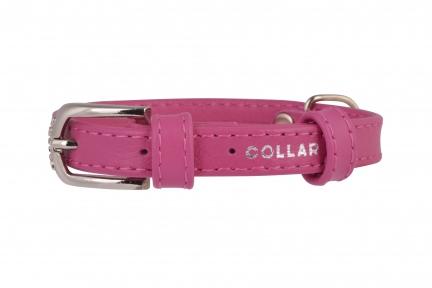 Collar Glamour ошейник без украшений S 20мм 30-39см розовый