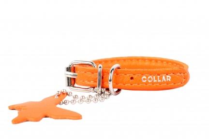 Collar Glamour ошейник без украшений XS 12мм 21-29см оранжевый