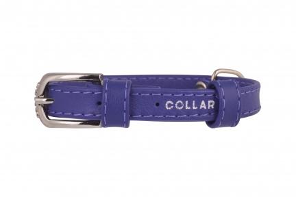Collar Glamour ошейник без украшений XS 12мм 21-29см фиолетовый