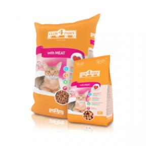 Клуб4Лапы сухой корм для котов с мясным филе 11 кг