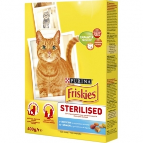 Friskies Sterilised с лососем и овощами 400g