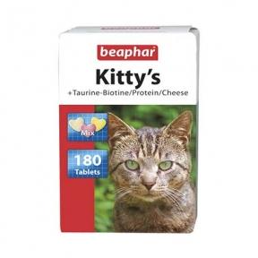 Beaphar Kitty's витамины для котов с таурином биотином, протеином и сыром 180шт