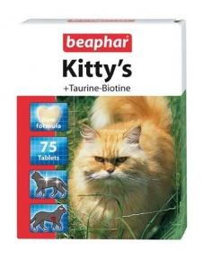 Beaphar Kitty's Витамины для котов с таурином и биотином 75 шт