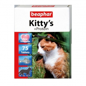 Beaphar Kitty's Protein Витамины для кошек 75шт