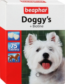Beaphar Doggy's витамины с биотин для собак 75шт