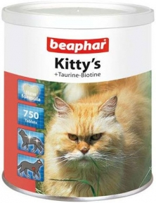 Beaphar Kitty's Витамины для котов с таурином и биотином 750шт