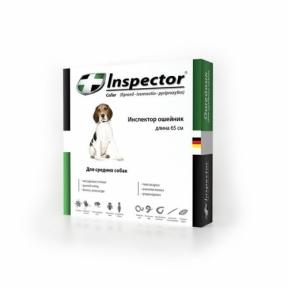 Inspector ошейник от внешних и внутрених паразитов для средних пород собак 65см