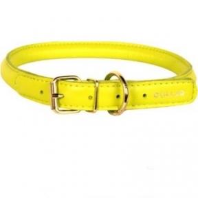 Collar Glamour ошейник круглый XS 17-20см желтый