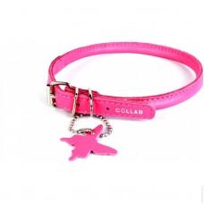 Collar Glamour ошейник круглый XS 17-20см розовый