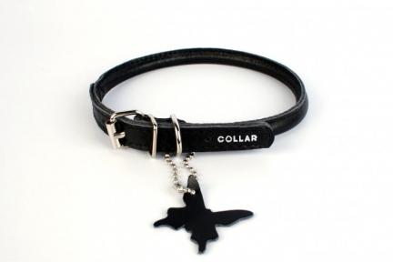 Collar Glamour ошейник круглый XS 17-20см черный