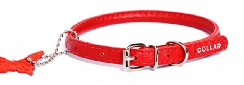 Collar Glamour ошейник круглый XS 17-20см красный