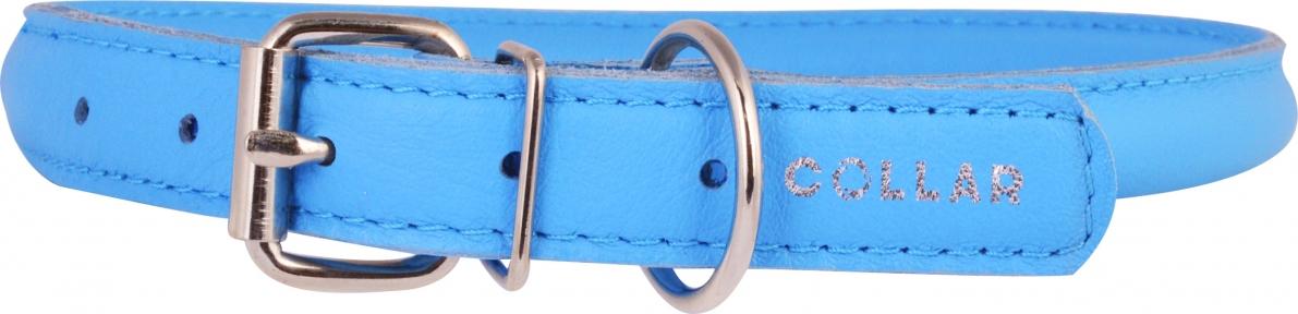 Collar Glamour ошейник круглый XS 17-20см голубой