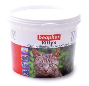 Beaphar Kitty's витамины для котов с таурином биотином, протеином и сыром 750шт (по шт)